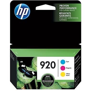 HP 920 C/M/Y Color Ink Cartridges (N9H55FN#140), Combo 3/Pack