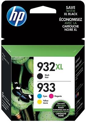 HP 932XL High Yield Black/933 Standard CMY, 4 Cartons/Pack