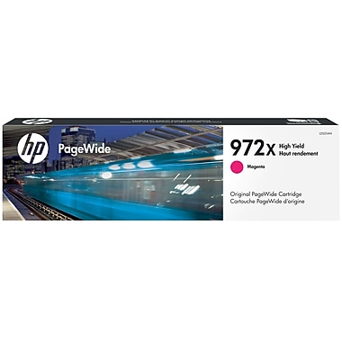 HP 972X Magenta PageWide Ink Cartridge (L0S01AN), High Yield
