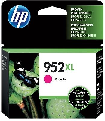 HP 952XL Magenta Ink Cartridge, High Yield (L0S64AN#140)
