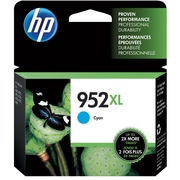 HP 952XL Cyan Ink Cartridge, High Yield (L0S61AN#140)