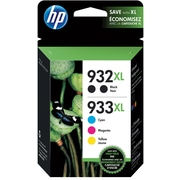 HP 932XL/933XL High Yield Black and C/M/Y Color Ink Cartridges (N9H69FN#140), 5/Pack