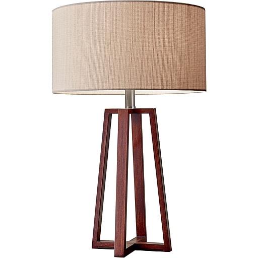 Adesso Quinn Table Lamp, Walnut Birch Wood (1503-15)