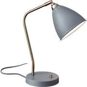 Adesso Chelsea Desk Lamp, Antique Brass/Grey (3463-03)