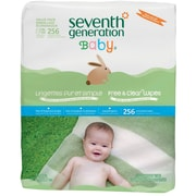 Seventh Generation™ Free & Clear Baby Wipes, Refill, White, Unscented, 256/Pack, 3 Packs/Case (SEV34219)