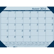 "2016-2017 House of Doolittle, Academic EcoTones Desk Pad, 18.5"" x 13"", Monthly, Blue (012540-17)"