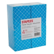 Staples Facial Tissues, 4/Pack