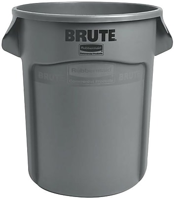 Rubbermaid Brute® Container, Gray, 32 gal.