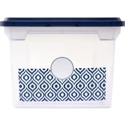 Staples Fashion File Box, Letter/Legal