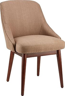 Staples Chetman Fabric Mid-Back Guest Chair, Tan