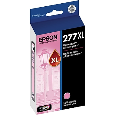 Epson T277XL Light Magenta Ink Cartridge, (T277XL620-S), High Yield