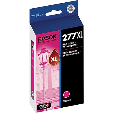 Epson T277XL Magenta Ink Cartridge, (T277XL320-S), High Yield