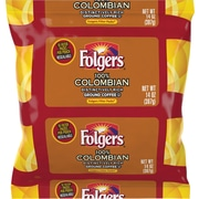 Folgers® 100% Colombian Coffee. 1.4 oz. Filter Packs, 40/Case