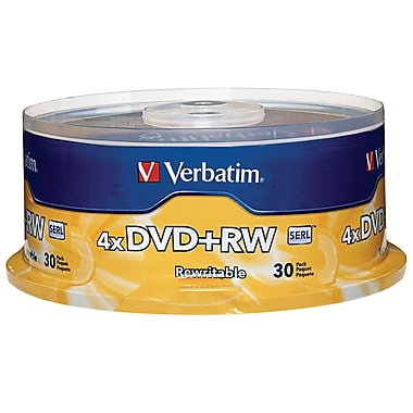 Verbatim DVD+RW 4.7GB 4X with Branded Surface 30pk Spindle
