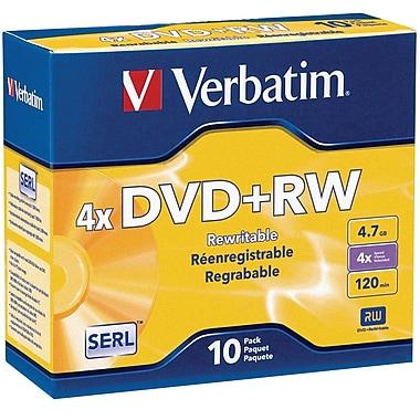 Verbatim DVD+RW 4.7GB 4X with Branded Surface 10pk Jewel Case