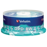 DVD-RW 4.7GB 4X with Branded Surface 30pk Spindle