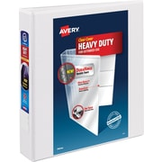 "Avery 1-1/2"" Heavy-Duty View Binder with One Touch™ EZD Rings, White"