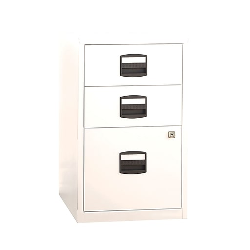 Bisley 3 Drawer Vertical File, White, Letter, 17''W (FILE3-WH)