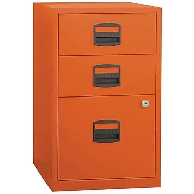 Bisley – Classeur à 3 tiroirs pour la maison ou le bureau, format lettre/A4, orange (FILE3-OR)