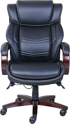 la z boy dresden leather executive office chair fixed arms black