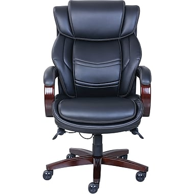 La Z Boy Dresden Leather Executive fice Chair Fixed Arms Black