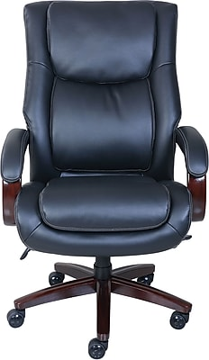 La-Z-Boy Winston Leather Executive Office Chair, Fixed Arms, Black (47011)