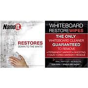 Nano-It Whiteboard Restore Wipes, 20/Bx, 2 Bx/Pk