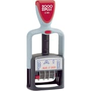 "2000 PLUS® Self-Inking Two-Color Dater, ""PAID"", 1 1/4"" x 1 3/16"" Impression, Blue and Red Ink"