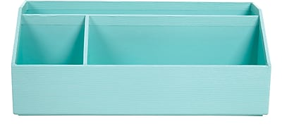 Office by Martha Stewart™ Stack+Fit™ Desk Organizer, Blue (28798)