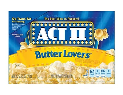 ACT II Butter Lovers Popcorn 48/Pack 2.75