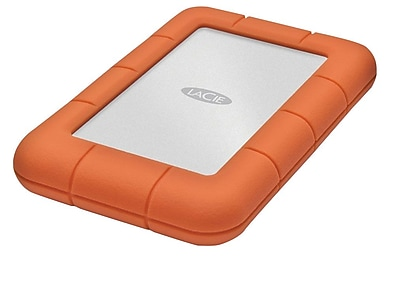 LaCie LAC301558 1 TB USB 3.0 Portable Rugged Mini Hard Drive Orange