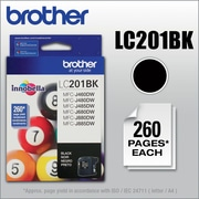 Brother Genuine LC201BK Black Original Ink Cartridge