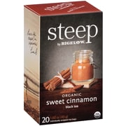 Steep by Bigelow Organic Sweet Cinnamon Black Tea, 20/Bx