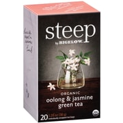 Steep by Bigelow Organic Oolong and Jasmine Green Tea, 20/Bx
