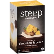 Steep by Bigelow Organic Dandelion Peach Rooibos Green Tea, 20/Bx