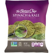 The Better Chip® Spinach & Kale Whole Grain Chips, 1.5 oz. Bag, 27/Ct