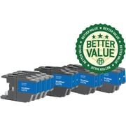 Staples® Reman Inkjet Cartridges, Brother LC75 (LC71Black/LC75Black/LC71C/LC75C/LC71M/LC75M/LC71Y/LC75Y) BK/C/M/Y, High Yield