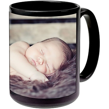 11oz Blk Ceramic Photo Mug PIS