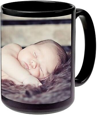 11oz Blk Ceramic Photo Mug PIS