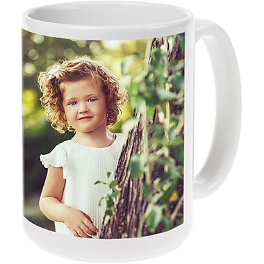 15oz Wh Ceramic Photo Mug PIS3