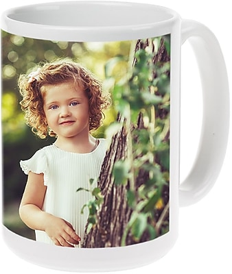 15oz Bl Ceramic Photo Mug PIS2