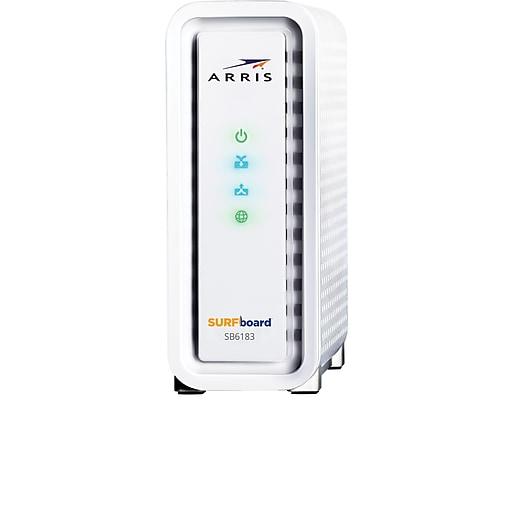 arris surfboard sb6183 cable modem 686 mbps staples
