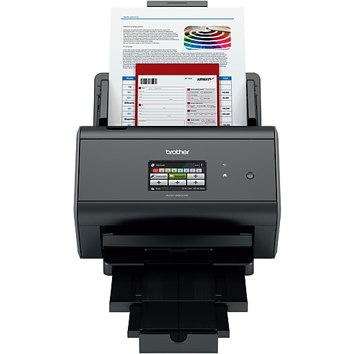 Brother ads 2800w wireless document scanner staples httpsstaples 3ps7is reheart Choice Image
