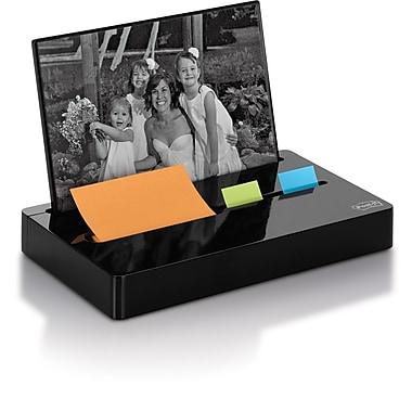 Post-it® Photo Frame Combo Pop-up Notes and Flag Dispenser, Black