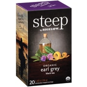 Steep by Bigelow Organic Earl Grey Black Tea, 20/Bx