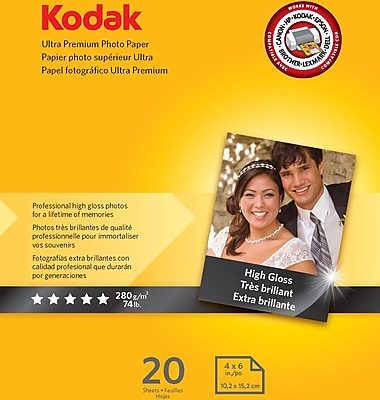 Kodak Ultra Premium High Gloss Photo Paper, 4