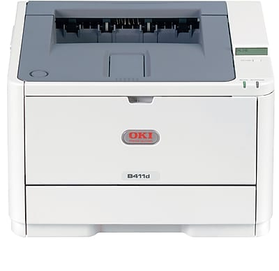 OKI® B411d Digital Mono Laser Printer Beige (OKI62435301)