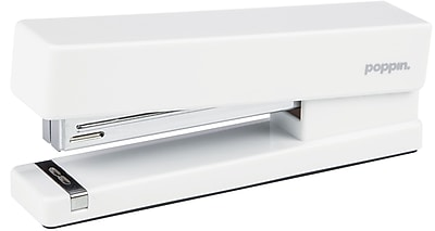 Poppin® Fashion Full Strip Stapler, 20 Sheets Capacity, White