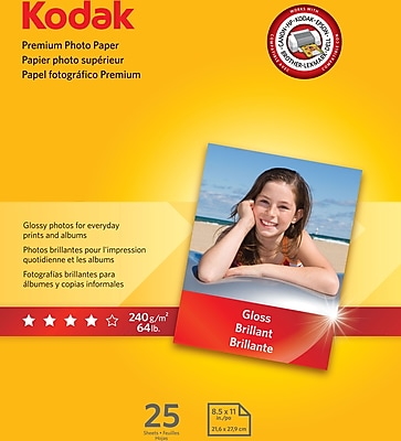 Kodak Premium Photo Paper Gloss 8 1/2