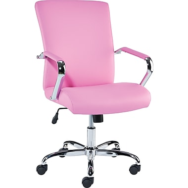 staples redden luxura managers chair, pink | staples